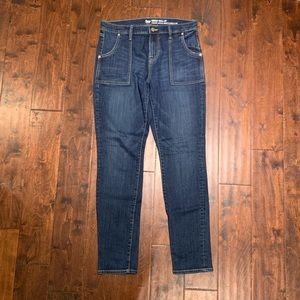 Gap dark wash skinny jeans, size 8(29)